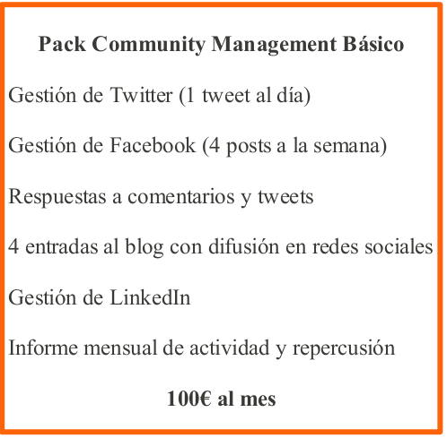 pack community management basico